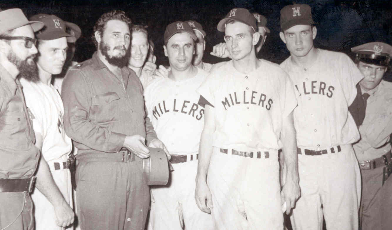 Fidel Castro with the Minneapolis Millers